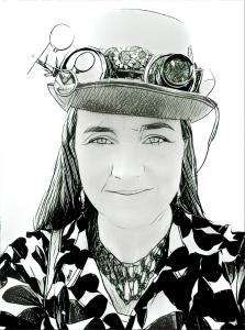 Mrs. Rabin in a Steam Punk Hat